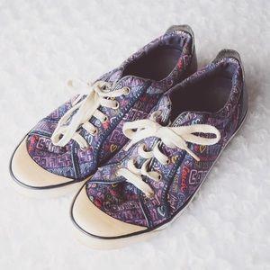 "COACH | ""Barrett"" Poppy Purple Graffiti Sneaker"